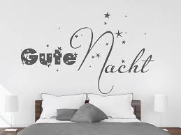 wandtattoo gute nacht mit sternen wandtattoo de