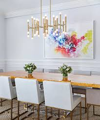 Jessica Kenyon Abstract Art In Dining Room Designed By Christina Croll Interiors Photograph Emily