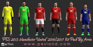 Preview PES2013 Manchester United 16 17 Kits By Arvin