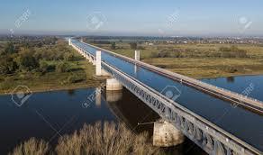 100 Magdeburg Water Bridge Aerial View Of