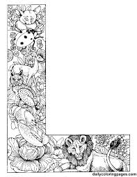 L Animal Alphabet Letters To Print Wonderful Coloring Pages Dailycoloringpages