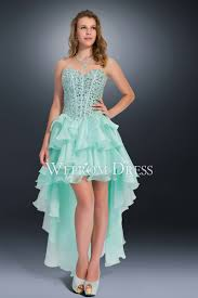 cocktail dress and light sky blue high low