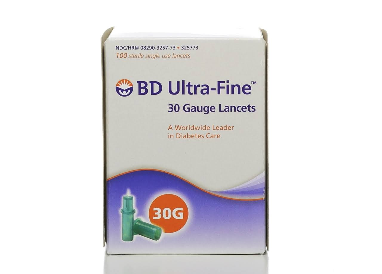 BD Ultra Fine Lancets - 30 Gauge, 100ct