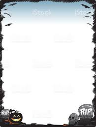 Free Halloween Page Border Clip Art by Halloween Frame Border Page With Pumpkin Skull And Tombstones