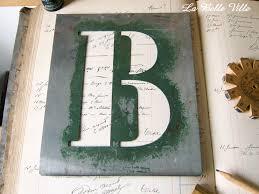 XL Vintage French Alphabet Stencil Large Zinc Letter Metal