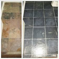 Polyblend Ceramic Tile Caulk Drying Time by I Painted These Slate Tiles In Graphite With A Paris Grey Wash