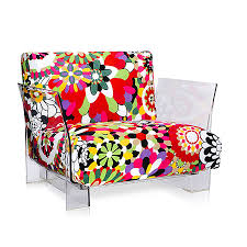 100 Missoni Sofa KARTELL Armchair POP MISSONI Vevey Red Hues Transparent Polycarbonate And Fabric