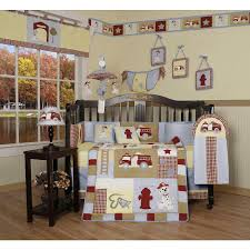 100 Toddler Truck Bedding Boys Crib Fire Firefighter Dog Red 13 PC Set Baby Quilt