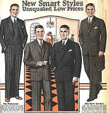 Pinstripes Are In And The Cuts Of Suits Quite Similar To Modern Mens