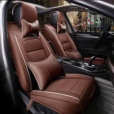couvre siege auto cuir avant arrière spécial housse de siège de voiture en cuir pour