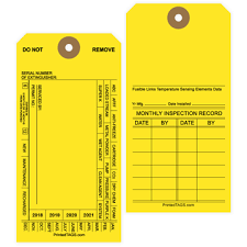 1000 Blank Fire Extinguisher Tags
