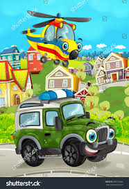 Cartoon Funny Looking Off Road Truck Stock Illustration 690372886 ...