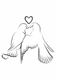 Fun Coloring Pages Wedding Love Dove