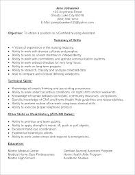 Resume Sample For Cna Nursing Assistant Objective Examples