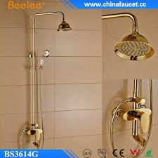 beelee bs3614g gold goldene fertige garnitur wand befestigter badezimmer dusche wasserhahn buy dusche wasserhahn gold dusche set badezimmer dusche