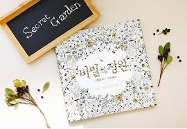 Secret Garden Adult Coloring Book English Chinese Korean
