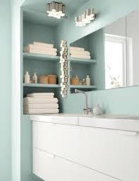 badezimmer einbauregal neben waschtisch ikea badzubehör