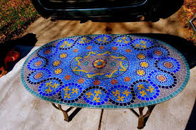 mosaic tile table top ideas house photos design of