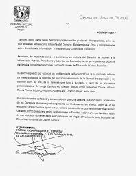 TODOS POR EL DERECHO DE LA INFORMACIÓN Carta De Apoyo Del Abogado