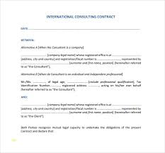 Unique Consultant Contract Template