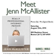 Meet Jenn McAllister! [08/29/15] Meet Jenn Mcallister 082915 The Typewriter Revolution Blog Upcoming Events In Ccinnati And Crossing At Smithfield Ws Development Online Bookstore Books Nook Ebooks Music Movies Toys Emerson College Bookstores 114 Boylston St Back Barnes Noble Cafe Boston Bay Restaurant Natalya Wwe Mister Science Faircom Book Release Video Former Umpire Bob Reflects On His Career Lady The Window Event Sept 21 I Fucking Love Ifnluvbos Beat Heat