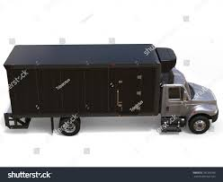 Silver Refrigerator Truck Black Trailer Unit Stock Illustration ...
