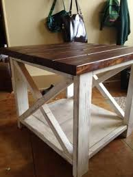 The Rustic X Side Table