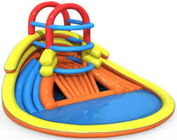 BSP 013 3D Model Kids Inflatable Pool And Slide For Sale