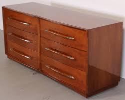 Johnson Carper Mid Century Dresser by T H Robsjohn Gibbings Walnut Dresser Or Chest With Silver Plate