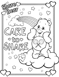 Care Bear Coloring Pages Bears Page 11 Bulletin Images