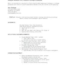 Students Resume Samples Feat Example Of College Sample Student Resumes For Prepare
