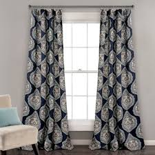 Lush Decor Window Curtains by Lush Decor Stripe Medallion Room Darkening Window Curtain Panel