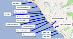 Map Of Central Laguna Beach California Beaches