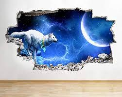 wandtattoo wolf
