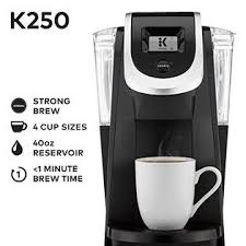 Keurig K250 Single Serve K Cup Pod Coffee Maker With Strength Control