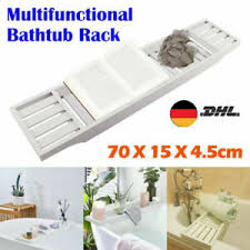 bambus holz badewanne rack badezimmer regal ordnung ablage