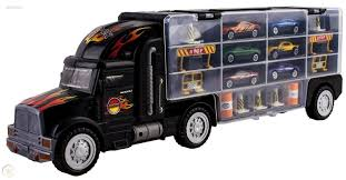 100 Semi Truck Toy Kids 2Sided Transport Multi Car Carrier With