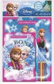 Image Is Loading FROZEN Colouring Activity Sticker Book Elsa Anna Kids