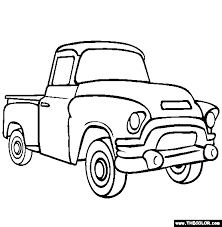 Old Pick Up Truck Coloring Pages
