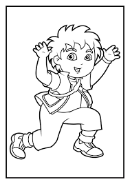 Amazing Printable Go Diego Cartoon Coloring Books For Kids