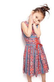 Girls Vintage Denim Folk Childrens Dress By Aiseirigh