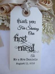 Thank You For Sharing Our First Meal Wedding Name Place