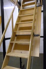 Interior: Engaging Picture Of Solid Oak Wood Folding Loft Ladder ... Awesome Ladder Ideas In Home Design Contemporary Interior Compact Staircase Designs Staircases For Tight Es Of Stairs Inside House Best Small On Simple Fniture Using Straight Wooden And Neat Pating Fold Down Attic Halfway Open Comfy Space Library Bookshelf Images Amazing Step Shelves Curihouseorg Spectacular White Metal Spiral With Foot Modern Pictures Solutions