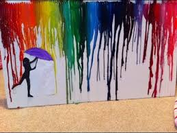 Finished Melted Crayon Art