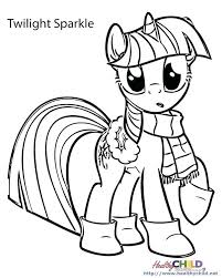 Twilight Sparkle Coloring Pages My Little Pony