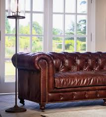 Houzz Living Room Sofas by Distressed Leather Sofa Mode Austin Transitional Living Room