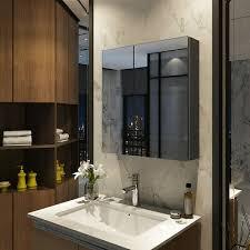 bad spiegel schrank 60cm badezimmer hängeschrank bad grau badeschrank spiegel
