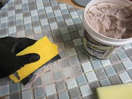 removing dried grout from glass tiles floor decoration ideas
