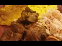 pese cuisine haitien grio banan pese and pikliz or fried plantain and fried