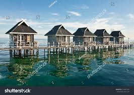 100 Houses In Malaysia Water On Mabul Island Stock Photo Edit Now